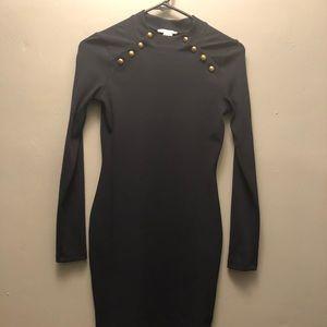HM Blue Military Mini Dress